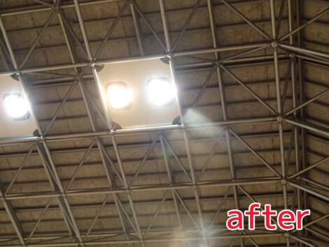 体育館照明 LED化工事