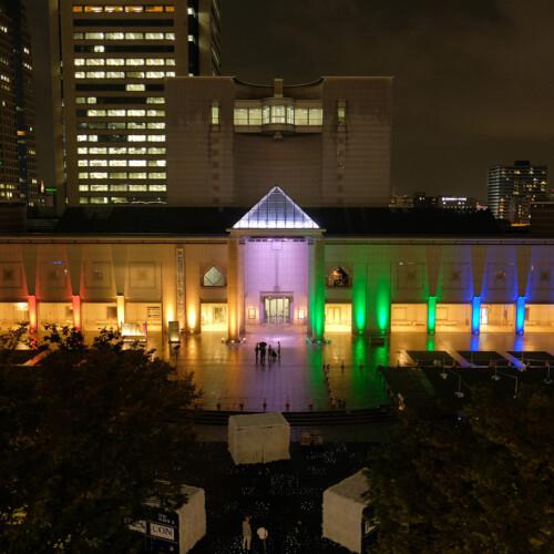 美術館LED照明ライトアップ工事